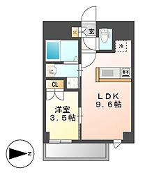 Mステージ矢田南[12階]の間取り