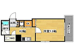 宝州博多第一ビル[10階]の間取り