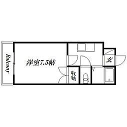 静岡県浜松市中区和合北4丁目の賃貸マンションの間取り