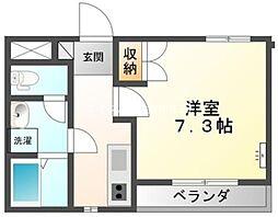 岡山県倉敷市片島町丁目なしの賃貸アパートの間取り