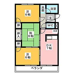 みゆきハイツ B棟[3階]の間取り