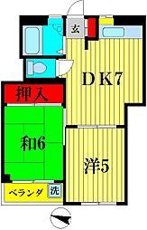 新松戸パインクレスト[1階]の間取り