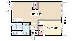 愛知県名古屋市緑区浦里1丁目の賃貸マンションの間取り