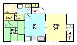 竹中ハイツ[2階]の間取り