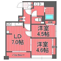 アキラクアトロ[4階]の間取り