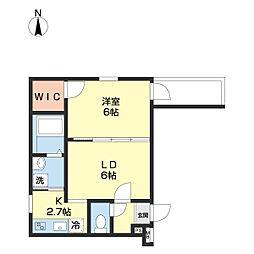 JR和歌山線 和歌山駅 徒歩9分の賃貸アパート 3階1LDKの間取り