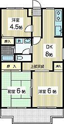 神奈川県川崎市多摩区長尾1丁目の賃貸マンションの間取り