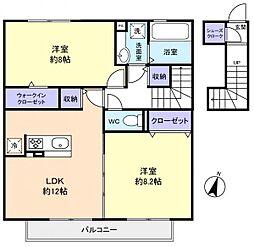 仮)レセンテ王子台B棟[2階]の間取り