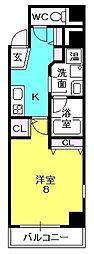 マテリアル戸田[605号室]の間取り