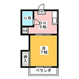重松コーポ[2階]の間取り