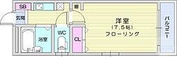 仙台空港鉄道 仙台空港駅 4.3kmの賃貸マンション 2階1Kの間取り