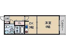 カーサロサード[1階]の間取り