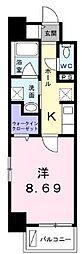 高松琴平電気鉄道長尾線 花園駅 徒歩4分の賃貸マンション 1階1Kの間取り