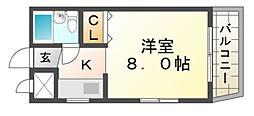 JPアパートメント尼崎II[2階]の間取り