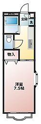 神奈川県横須賀市ハイランド2丁目の賃貸マンションの間取り