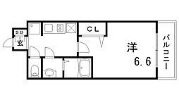 兵庫県神戸市兵庫区西出町2丁目の賃貸マンションの間取り