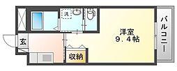 岡山電気軌道清輝橋線 清輝橋駅 徒歩35分の賃貸マンション 2階1Kの間取り