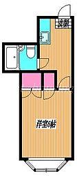 東京都武蔵野市関前2丁目の賃貸アパートの間取り