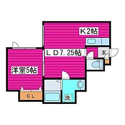 北海道札幌市東区北三十五条東10丁目の賃貸アパートの間取り