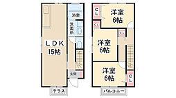 [テラスハウス] 兵庫県川西市東畦野4丁目 の賃貸【/】の間取り