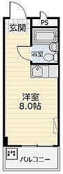 石原マンション三山[203号室]の間取り