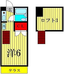 シャルムII[1階]の間取り
