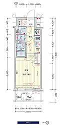 JR大阪環状線 鶴橋駅 徒歩3分の賃貸マンション 2階1Kの間取り