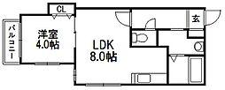 北海道札幌市豊平区平岸四条12丁目の賃貸マンションの間取り