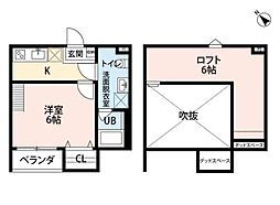 大阪府堺市堺区神明町西3丁の賃貸アパートの間取り