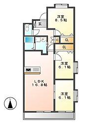 ブールヴァールNOMA[3階]の間取り