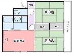中村ハイツ[5階]の間取り