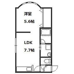MSP722壱番館[3階]の間取り