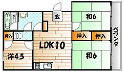 柳井コーポ[303号室]の間取り