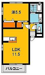 グローリーハイム[1階]の間取り