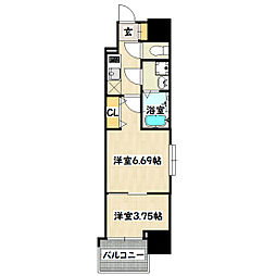兵庫県神戸市兵庫区西上橘通2丁目の賃貸マンションの間取り