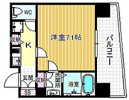 ファミールリブレ梅田東[9階]の間取り