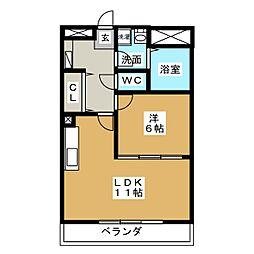 サンライズ久田[3階]の間取り