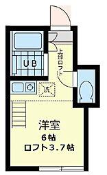 ユナイト 阪東橋カークランド[1階]の間取り
