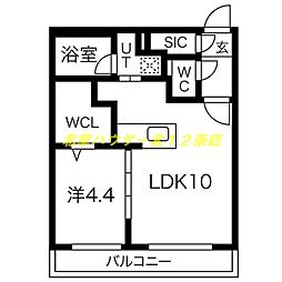 仮)GRANーN27W4 MS 5階1LDKの間取り