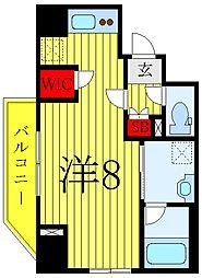 ARKMARK巣鴨 6階ワンルームの間取り