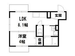 ラ・フォート紗羅[2階]の間取り