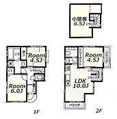 建物参考プラン:間取り/3LDK、延床面積/62.54m2、土地建物参考価格/4080万円(税込)