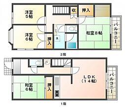 [一戸建] 兵庫県神戸市須磨区神の谷5丁目 の賃貸【/】の間取り