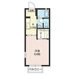 ペイサージュB[2階]の間取り