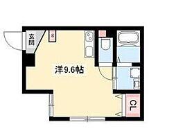 ARK岩塚駅南 A棟 2階1Kの間取り