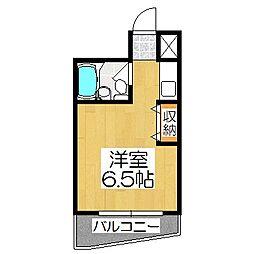 京都府京都市山科区西野山中鳥井町の賃貸マンションの間取り