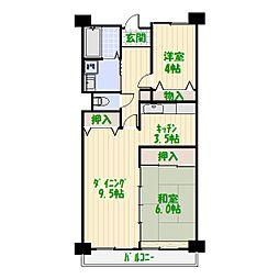 フレール堀切2[3階]の間取り