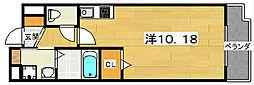 プログレNアルファ 3階ワンルームの間取り