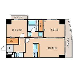 静岡県静岡市葵区一番町の賃貸マンションの間取り