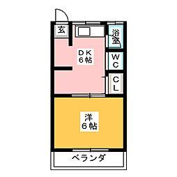 幸月マンション[1階]の間取り